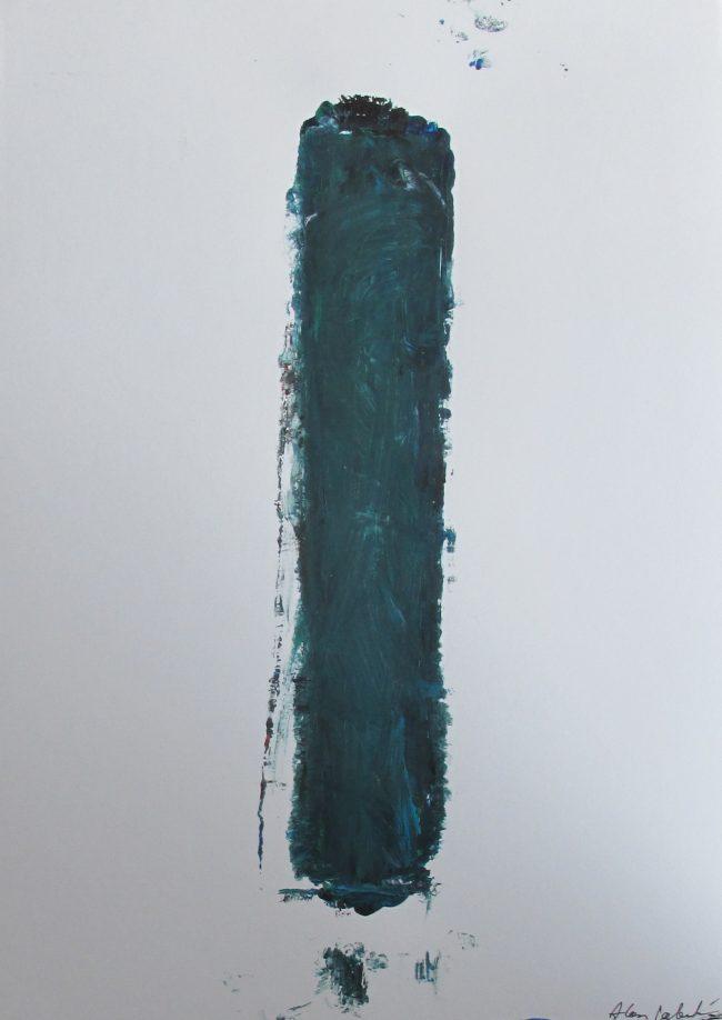 Alan Velvet, European Visual Artist, Stock of a Balken no. 2, 2016 - Acryl on Paper - 29,7x42cm