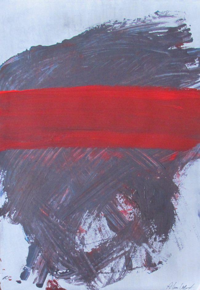 Alan Velvet, European Visual Artist, Splotch no. 3, 2016 - Acryl on Paper - 29,7x42cm