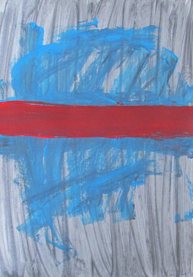 Alan Velvet, European Visual Artist, Splotch no. 1, 2016 - Acryl on Paper - 29,7x42cm