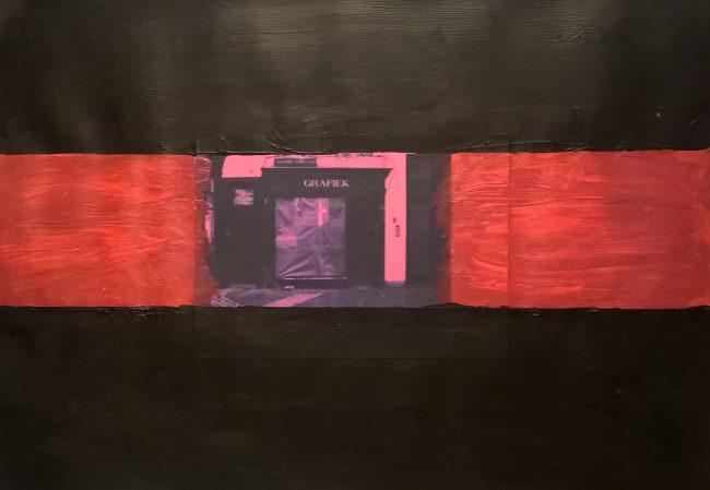 Alan Velvet, European Visual Artist, Streets of Antwerp #5, 2016 - Mixed media on paper - 29,7x42cm