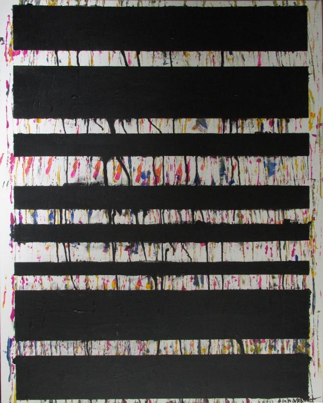 Alan Velvet, European Visual Artist, Connected Balken, 2015 - Acryl on Canvas - 80x100cm