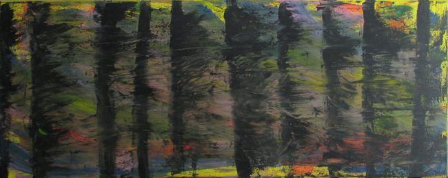 Alan Velvet, European Visual Artist, Balkenwald aka Balken Meeting #1 pt 2, 2015 - Acryl on Canvas - 40x100cm