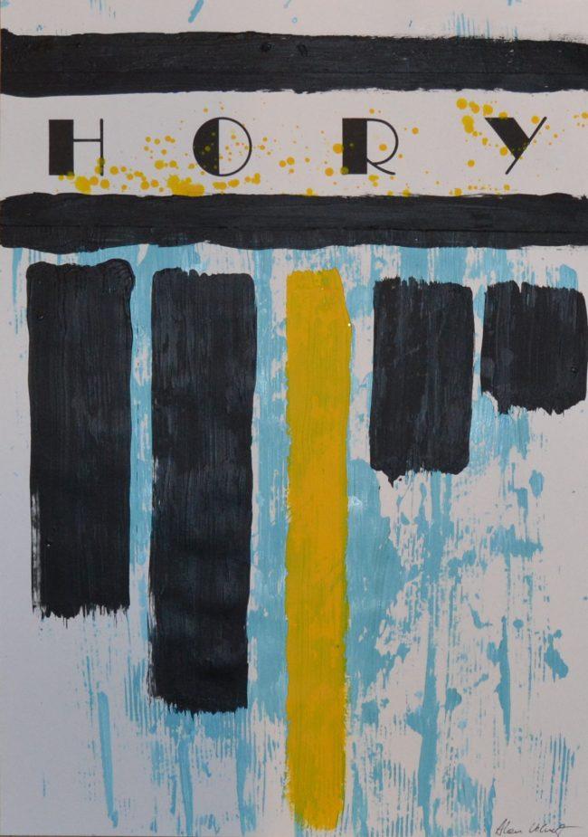 Alan Velvet, European Visual Artist, Hory, 2015 - Acryl on Paper - 29,7x42cm