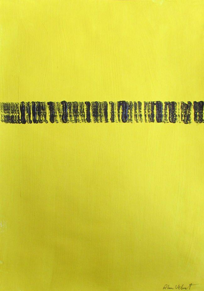 Alan Velvet, European Visual Artist, Balken Track, 2016 - Acryl on Paper - 29,7x42cm