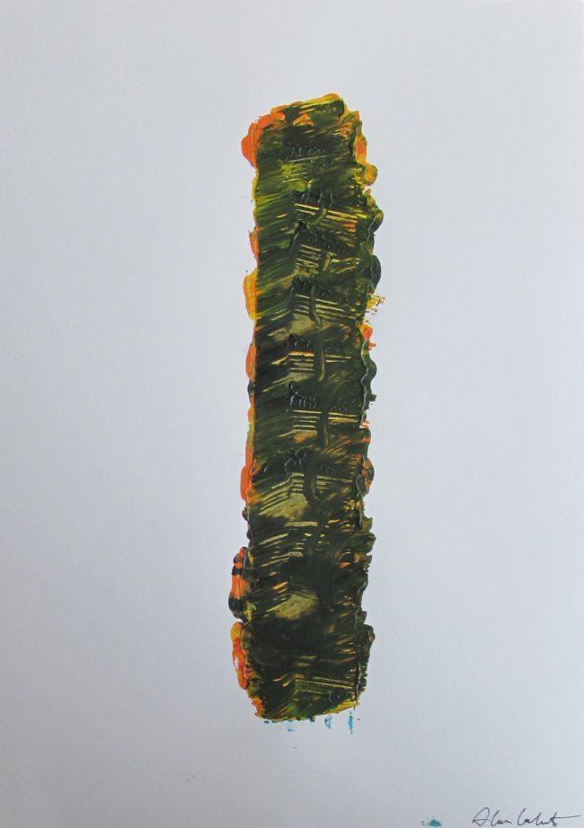 Alan Velvet, European Visual Artist, Stock of a Balken no. 5, 2016 - Acryl on Paper - 29,7x42cm