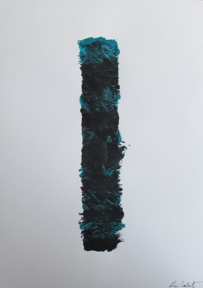 Alan Velvet, European Visual Artist, Stock of a Balken no. 6, 2016 - Acryl on Paper - 29,7x42cm