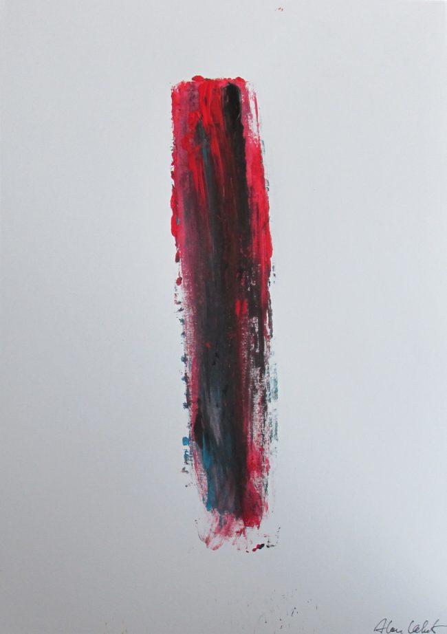 Alan Velvet, European Visual Artist, Stock of a Balken no. 3, 2016 - Acryl on Paper - 29,7x42cm