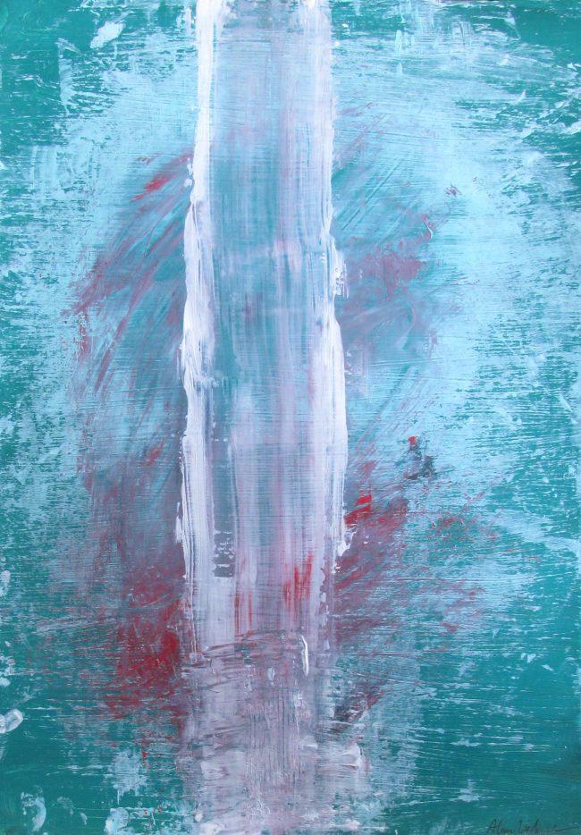 Alan Velvet, European Visual Artist, Balken Nebula, 2016 - Acryl on Paper - 29,7x42cm