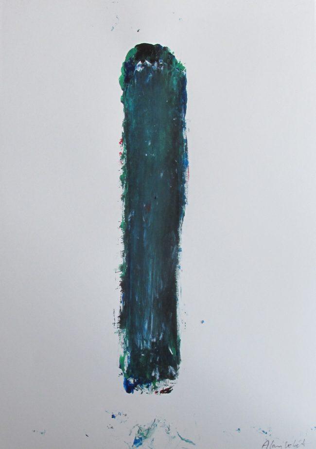 Alan Velvet, European Visual Artist, Stock of a Balken no. 1, 2016 - Acryl on Paper - 29,7x42cm