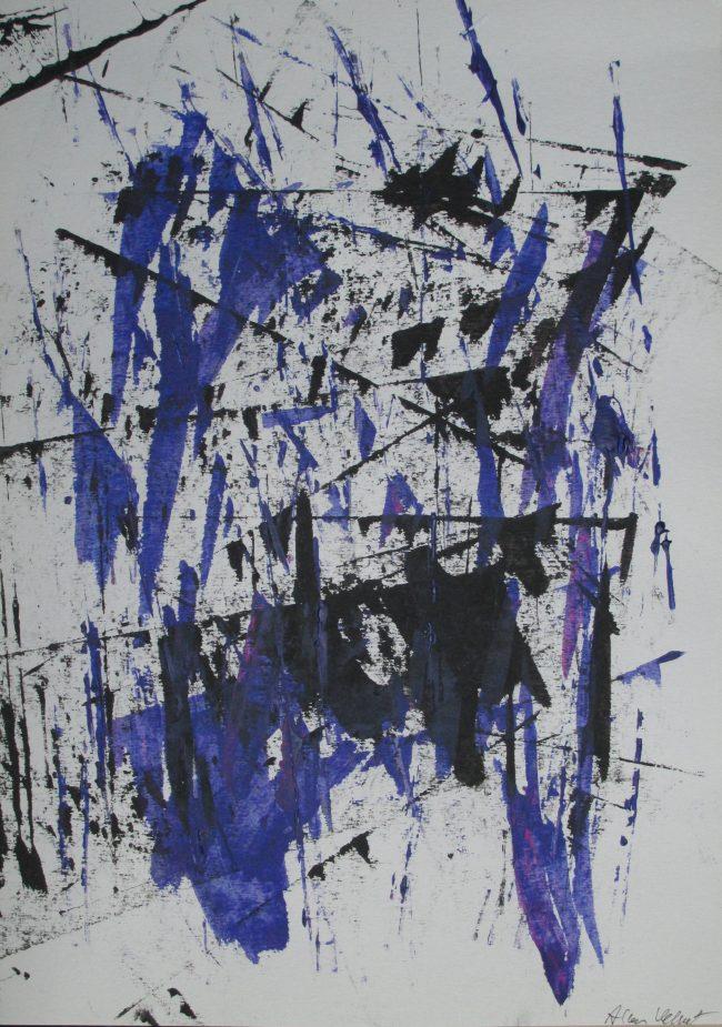 Alan Velvet, European Visual Artist, Compounding Balken #2, 2015 - Acryl on Paper - 29,7x42cm