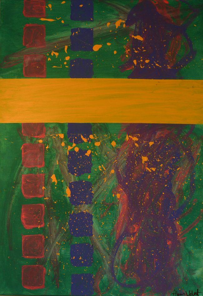 Alan Velvet, European Visual Artist, Power of the Balken #16, 2015 - Acryl on canvas - 70x100cm