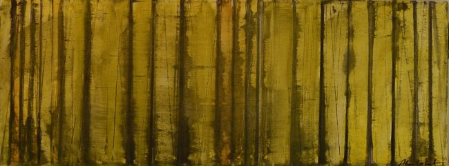 Alan Velvet, European Visual Artist, BalkenMeeting #1, 2015 - Aquarelle on canvas - 80x30cm