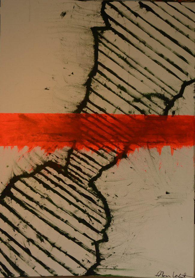 Alan Velvet, European Visual Artist, Power of the Balken #13, 2015 - Acryl on canvas -70x100cm