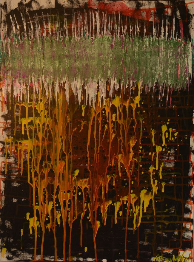Alan Velvet, European Visual Artist, Power of the Balken #17, 2015 - Acryl on canvas - 60x80cm