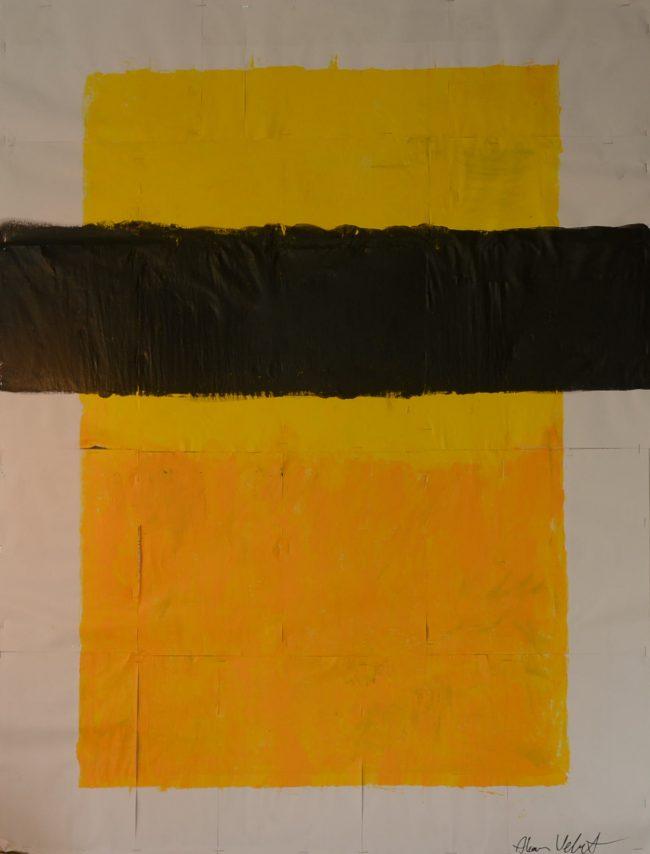 Alan Velvet, European Visual Artist, Power of the Balken #15, 2015 - Acryl on papers sticked to a carton - 96x125