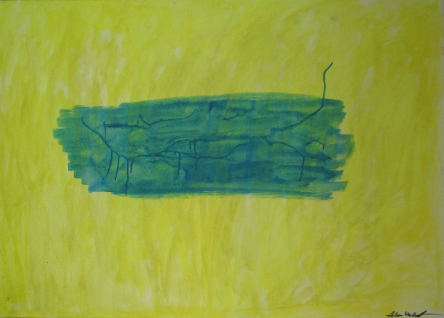 Alan Velvet, European Visual Artist; Balken in progress, 2015 - Acryl on canvas - 50x70 cm