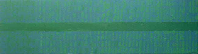 Alan Velvet, European Visual Artist Bamboo part two, 2015-2016 Acryl on canvas 50x180cm