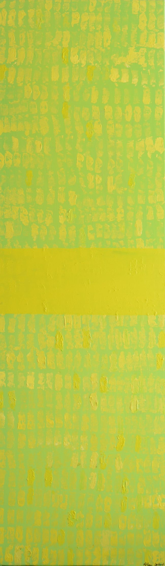 Alan Velvet, European Visual Artist, Bamboo part one, 2015-2016 - Acryl on canvas - 60x200cm